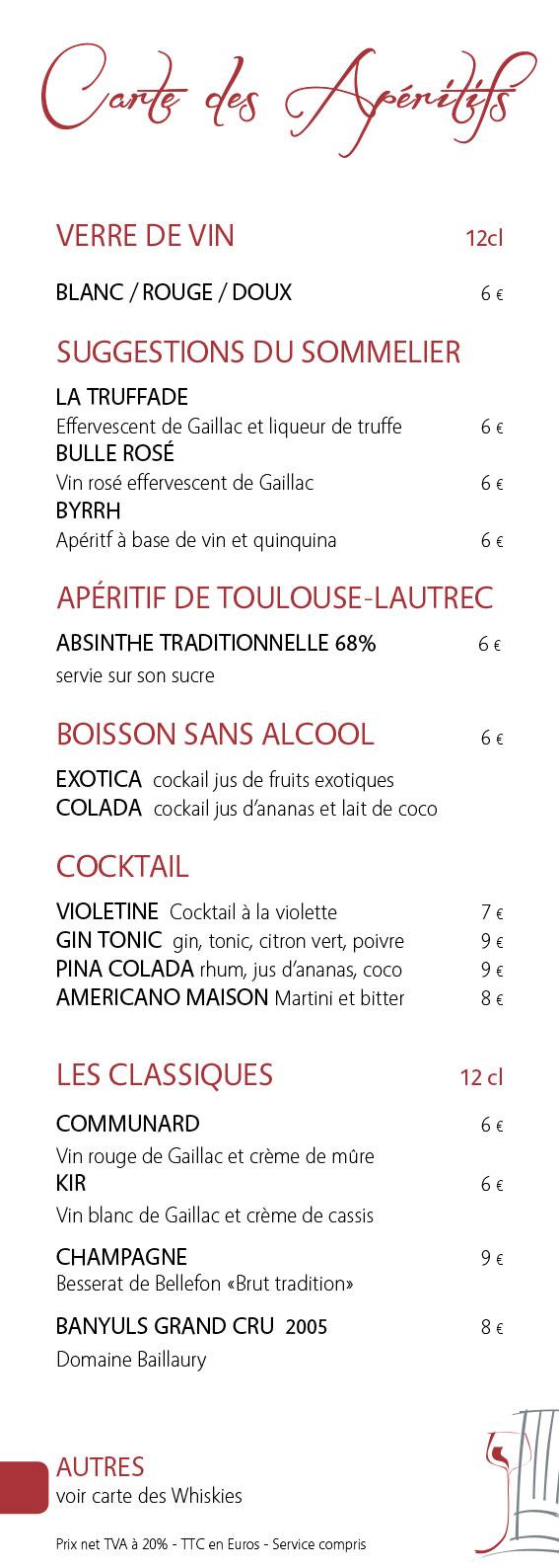 Nos vins et alcools la table du sommelier gaillac for Cuisine 81 gaillac